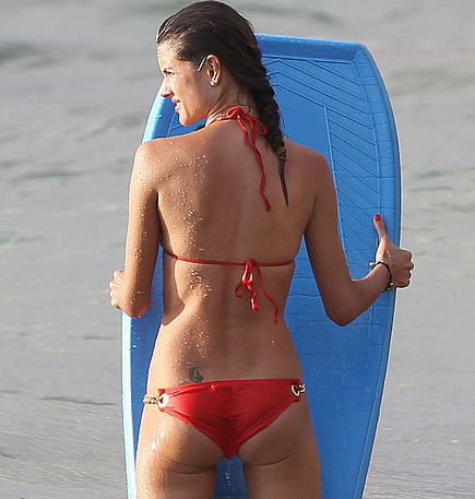 Alessandra Ambrosio in two sexy bikinis