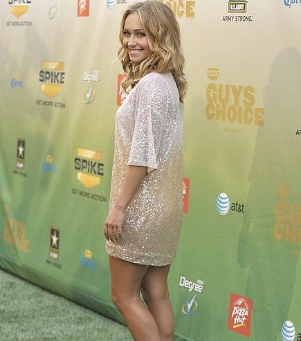 The glittering dress of Hayden Panettiere