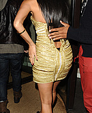 tn nicole scherzinger 16 Nicole Scherzinger nearly busts out of her dress in London.