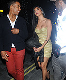 tn nicole scherzinger 22 Nicole Scherzinger nearly busts out of her dress in London.