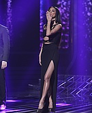 tn nicole scherzinger 10 Nicole Scherzinger shows a whole lot of leg at the X Factor UK results show.