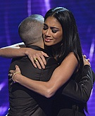 tn nicole scherzinger 3 Nicole Scherzinger shows a whole lot of leg at the X Factor UK results show.