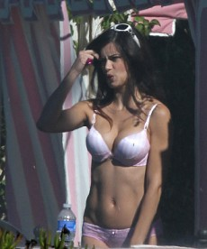 Adriana Lima Candids From Lingerie Shoot