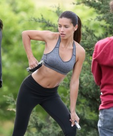 Adriana Lima Works Out In NYC