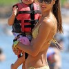 Alessandra Ambrosio At The Beach With Her Daughter