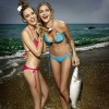 Ana Beatriz Barros Catches A Fish
