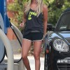 Ashley Tisdale Gets Gas In Studio City