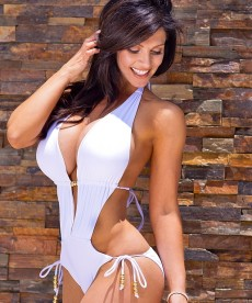 Big Breasted Denise Milani In Sexy Swimwear Shoot
