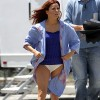 Eva Longoria Filming In Los Angeles