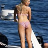 Gemma Merna All Wet In Pink And White Bikini