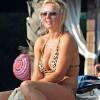 Geri Halliwell In Leopard Print Bikini
