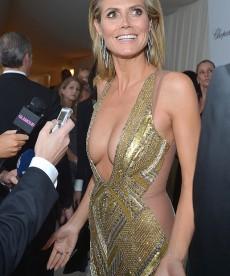 Heidi Klum Shows A Lot Of Skin At Elton John's Oscar Party