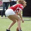 Jennifer Lopez Plays A Little Football.