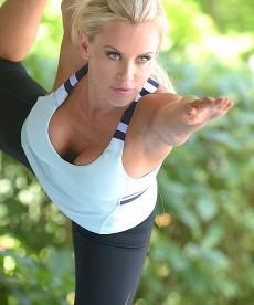 Jenny McCarthy Doing Yoga.
