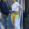 Katie Holmes Goes Braless In A White T-Shirt
