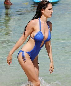 Kelly Brook In Two Body-baring Bathing Suits