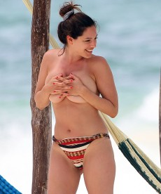 Kelly Brook Goes Topless