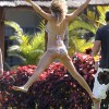 LeAnn Rimes Plays Boccie Ball In A Bikini