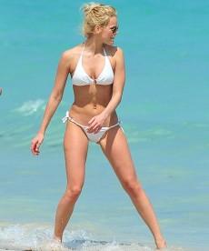 Lindsay Ellingson In A White Bikini