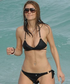 Maria Menounos In Black Bikini