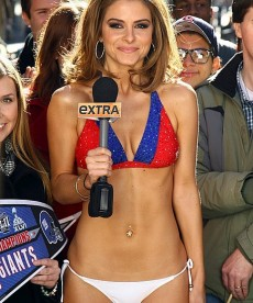 Sexy Maria Menounos Loses A Bet, Dons A Bikini
