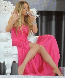 Mariah Carey Shows Off Her Legs On Good Morning America
