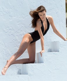 Sexy Behind The Scenes Shots A Miranda Kerr Swimwear Shoot