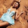Gorgeous Miranda Kerr Poses For A Sexy Photoshoot On The Beach