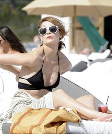 A Bikini Beach Day For Mischa Barton