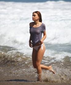 Sexy Russian Model Natalia Proza Soaking Wet And Braless