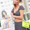 Nina Agdal Shows Off Her Belly