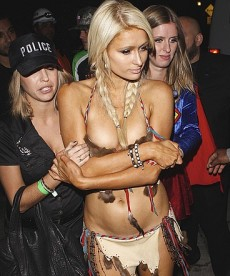 Paris Hilton Halloween At The Playboy Mansion