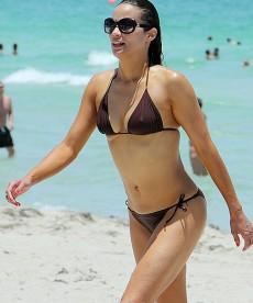 Paula Patton And Robin Thicke In Miami
