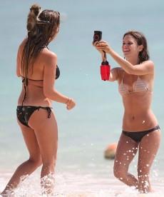 Rachel Bilson In A Bikini With A Hot Friend In A Bikini And A Monkey