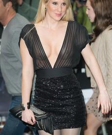 Rebecca Ferdinando Bares Her Nipples.