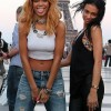 Rihanna Poses At The Eiffel Tower In Paris