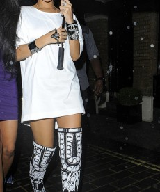 Rihanna And Her Boot-Pants