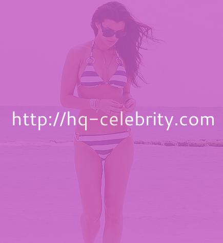 tn 4 Ali Landry in blue and white bikini