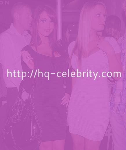 Amy Childs in little black dress