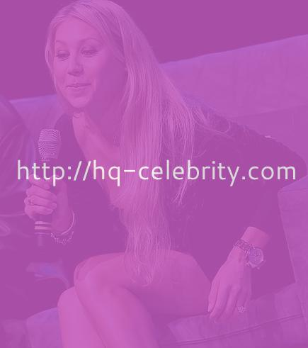 Leggy Anna Kournikova attends press event