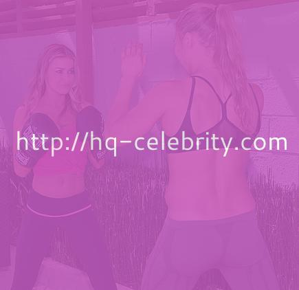Carmen Electra and Ronda Rousey work out in LA.