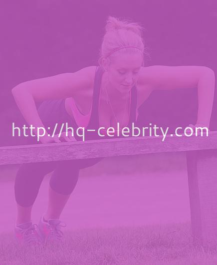 Catherine Tyldesley works out in the park.