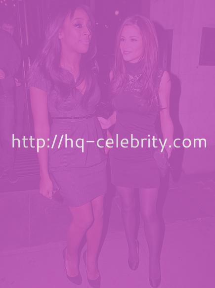 Cheryl Cole & Alexandra Burke in evening wear
