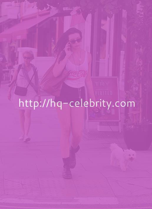 Daisy Lowe Walks Her Dog