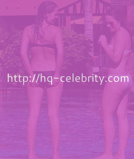 Danielle Lloyd makes a splash at the pool