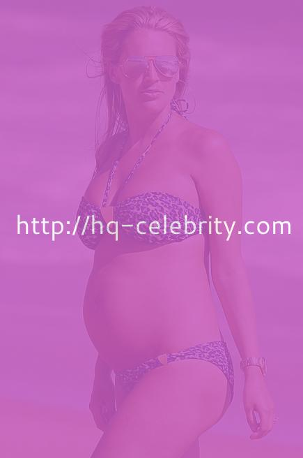 Pregnant Danielle Lloyd in Spain