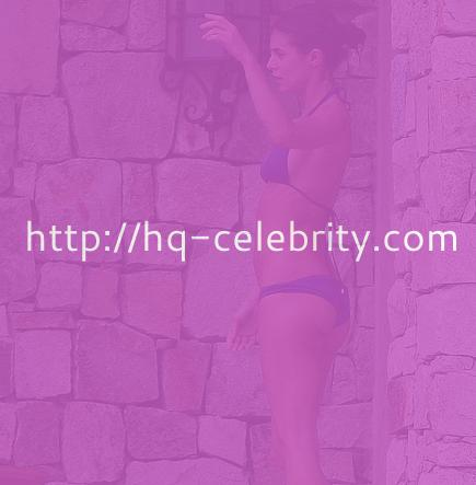 Elisabetta Canalis in tiny blue bikini