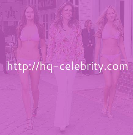 Elizabeth Hurley with her new bikini shop