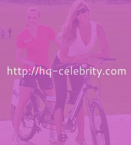 Elle Macpherson gets on her bike