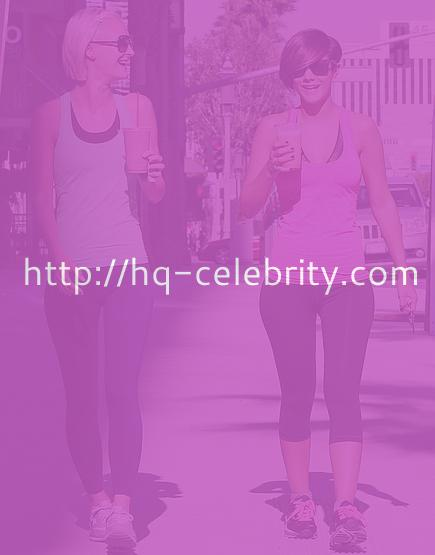 Frankie Sandford shows off her curves in Los Angeles.